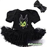 Baby Girl Descendants Inspired Halloween Black Onesie Dress Set