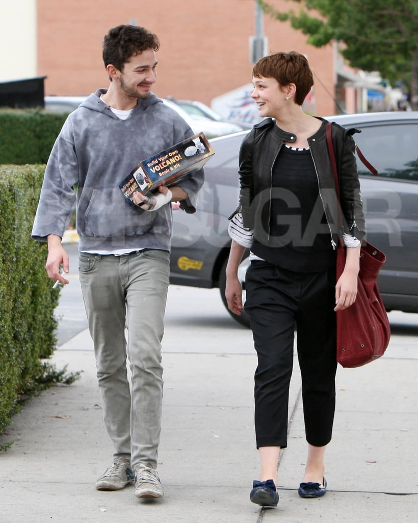 Photos of Shia LaBeouf and Carey Mulligan Out Holding Hands