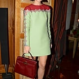 Miroslava Duma was at her loveliest in Valentino's scalloped shift.