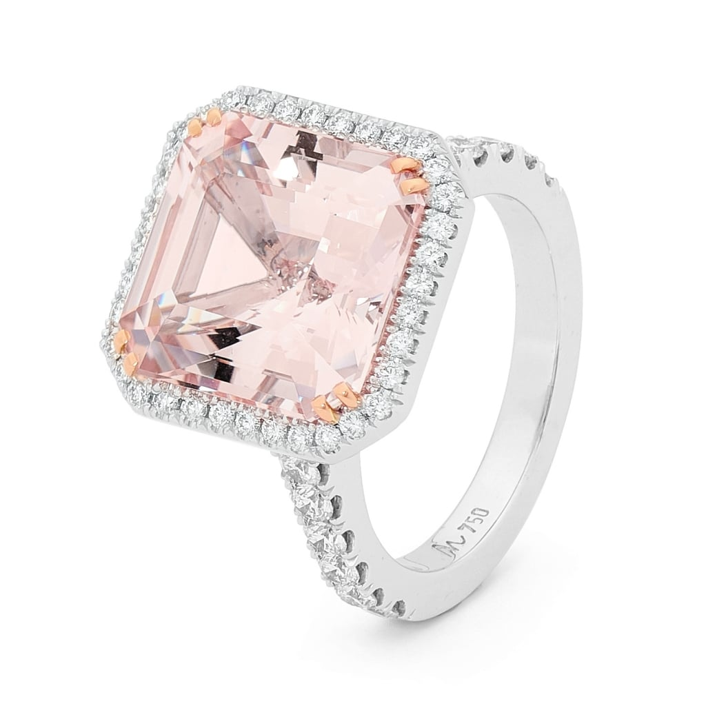 Asscher Morganite And Diamond Ring, Price Available Upon Request  Shop  Pippa Middleton's Asscher Cut Diamond Engagement Ring  Popsugar Fashion  Australia