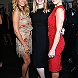 It's a Jenny Packham sandwich backstage with Lauren Conrad and Minka Kelly.
