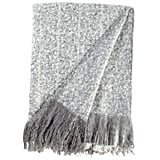 Rivet Super Soft Oversized Ombre Stripe Brushed Weave Throw Blanket