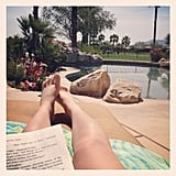 I got some much-needed R&R — reading and relaxation — by the pool.