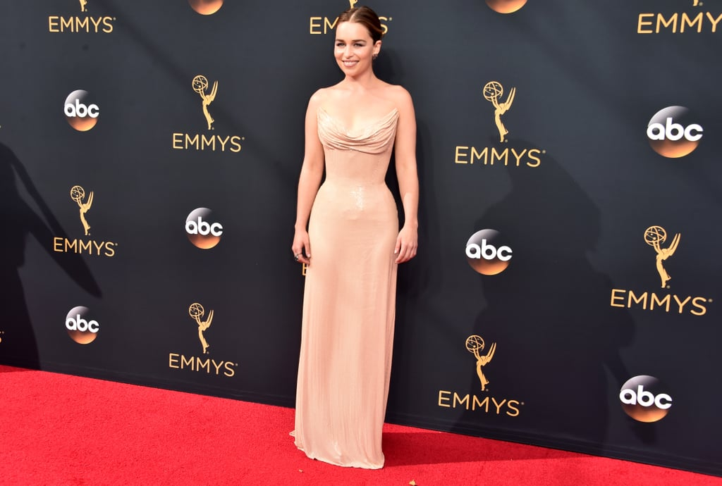 Emilia Clarke's Atelier Versace Dress at the Emmys 2016