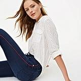 Loft Modern Side-Stripe Skinny Jeans