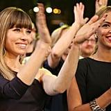 Jessica Biel and Beyoncé