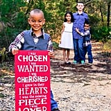 A Sibling Adoption Wooden Sign