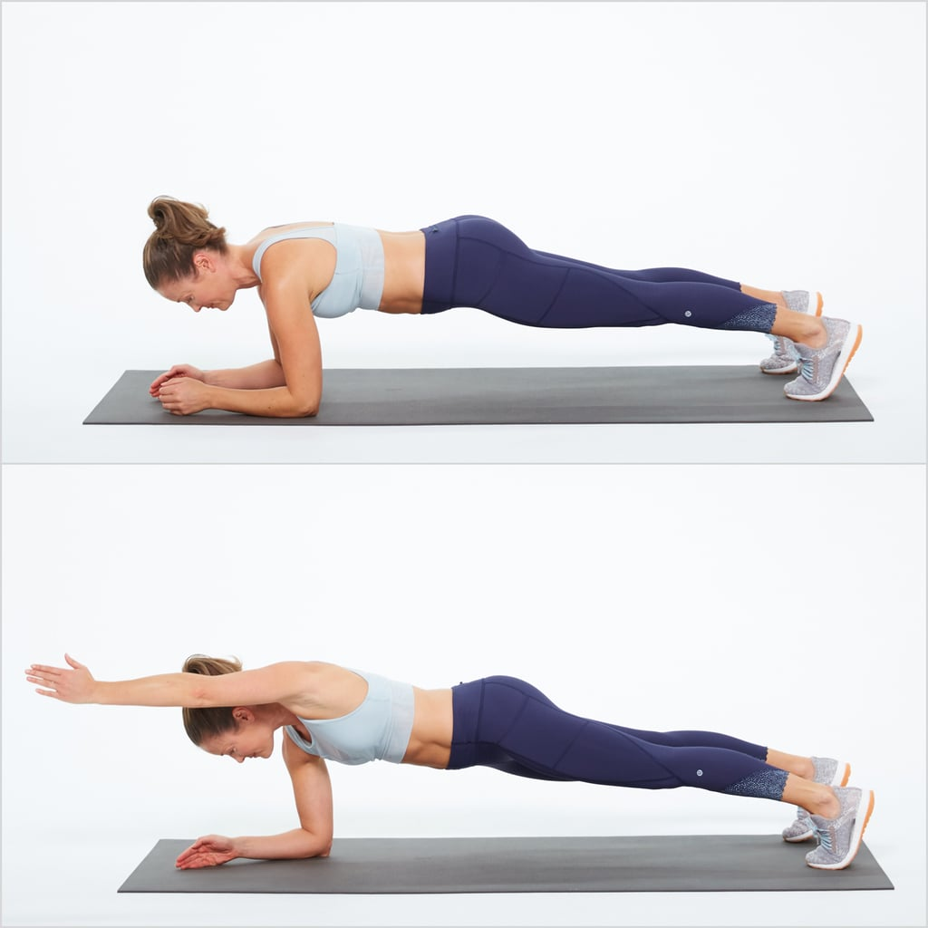 Elbow Plank With Reach