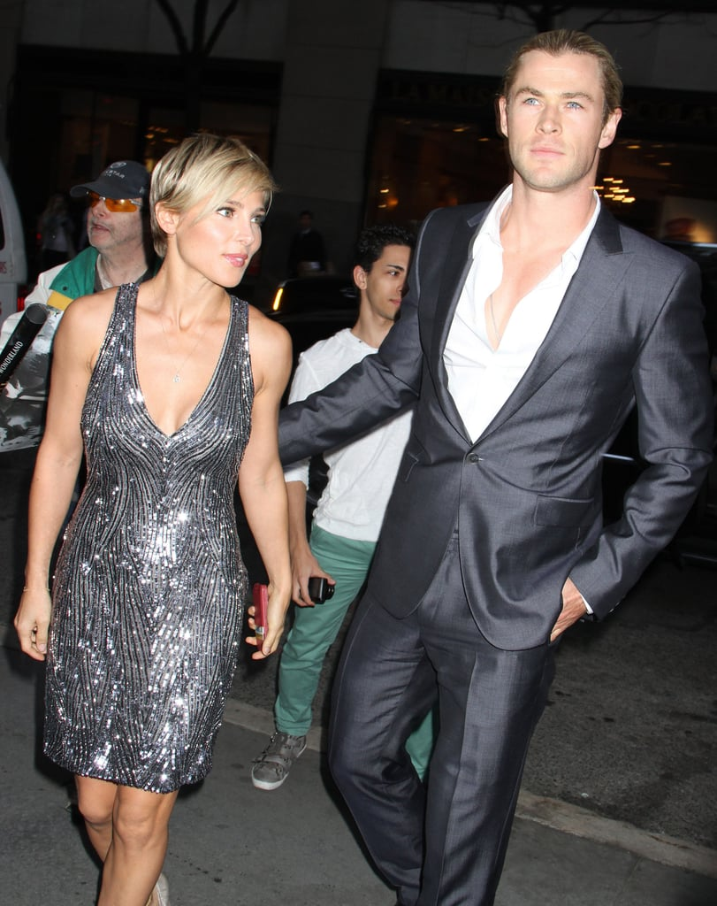 Chris and Elsa Make a Stunning Couple For a Big Night Out in NYC
