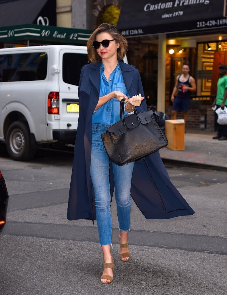 Miranda Kerr Wearing Denim on Denim May 2016