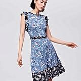 LOFT Mixed Print Flutter Dress