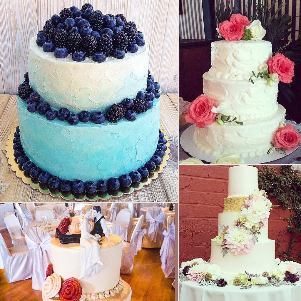 Summer wedding cakes call for bright florals