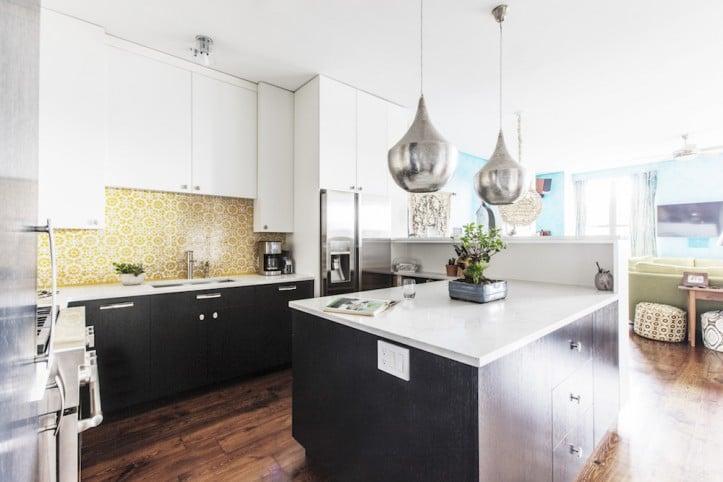 White And Grey Kitchen Black Hardware