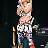 Tulisa Contostavlos was all about clashing prints at Hylands Park.