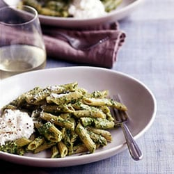 Fast & Easy Dinner: Penne With Pesto and Ricotta