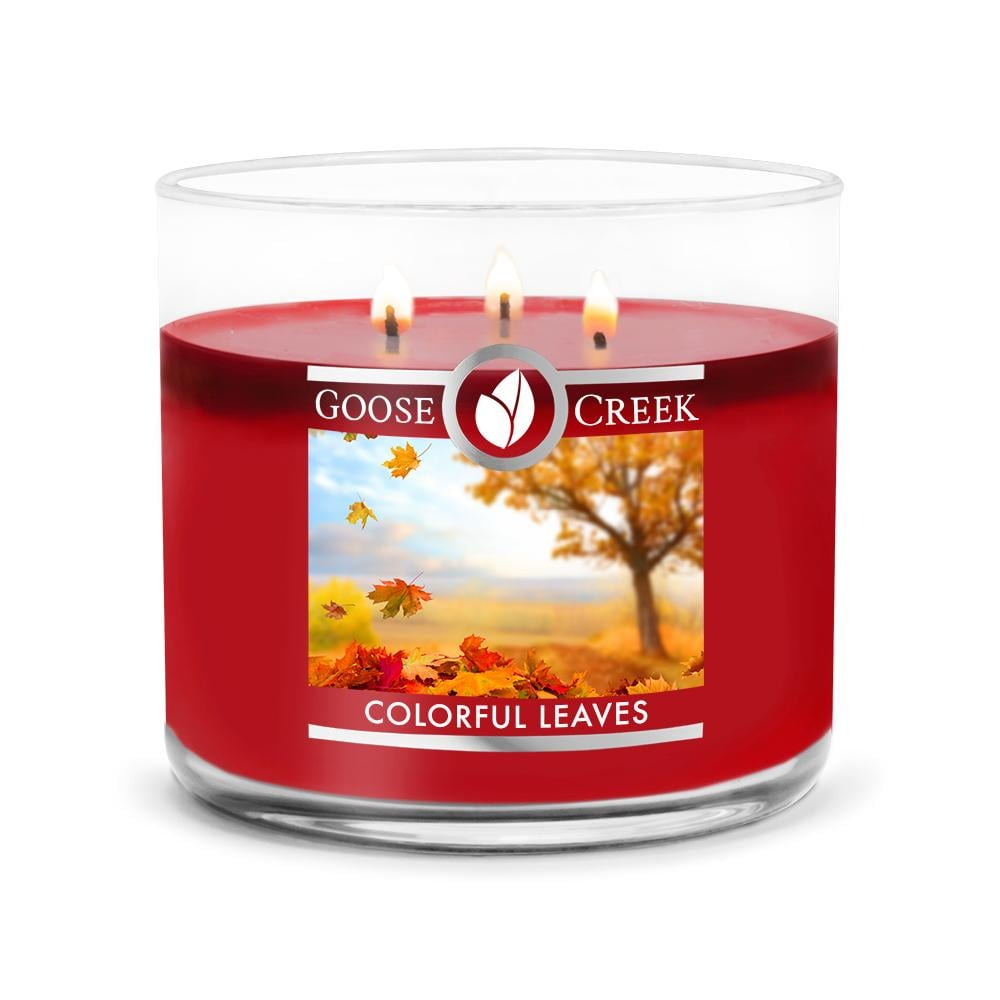 Goose Creek Colorful Leaves Large 3-Wick Candle