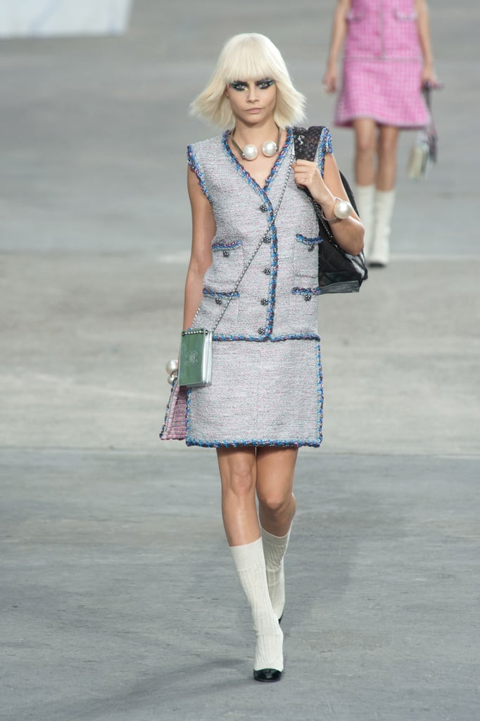 chanel spring 2014 alexa chung hits the runway popsugar