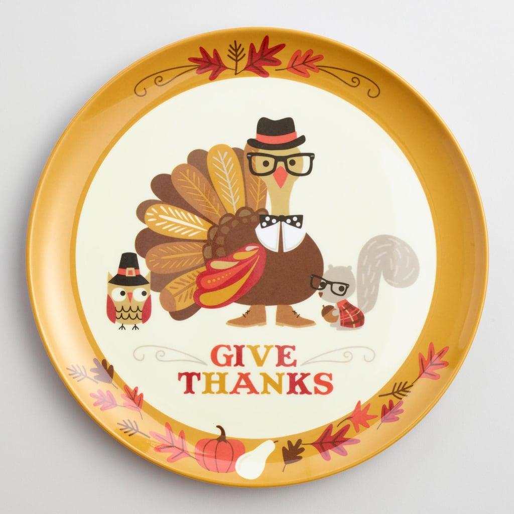 Set Of 6 Turkey Melamine Dinner Plates ($15)