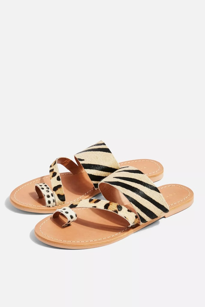 Topshop Honey Animal Flat Sandals