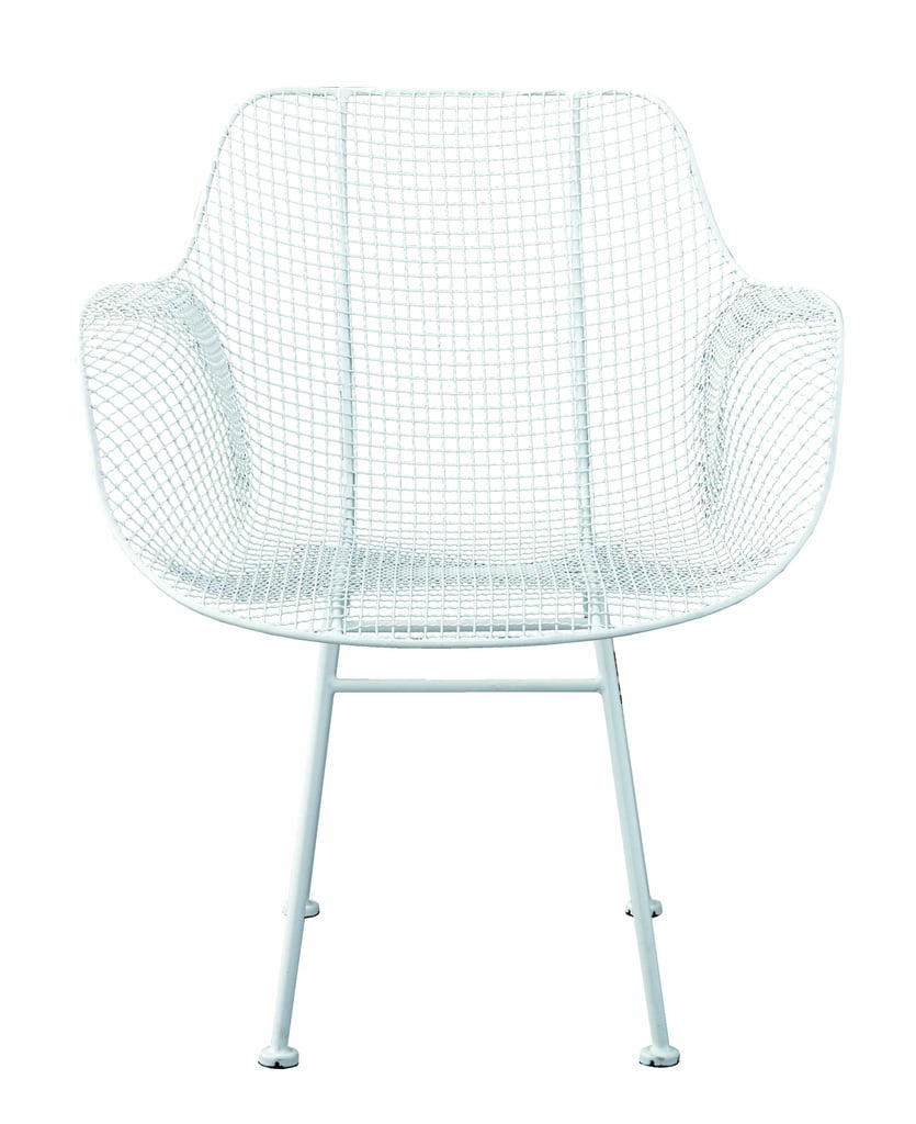 Set of 2 White Wire Larkin Molded Armchairs ($260)