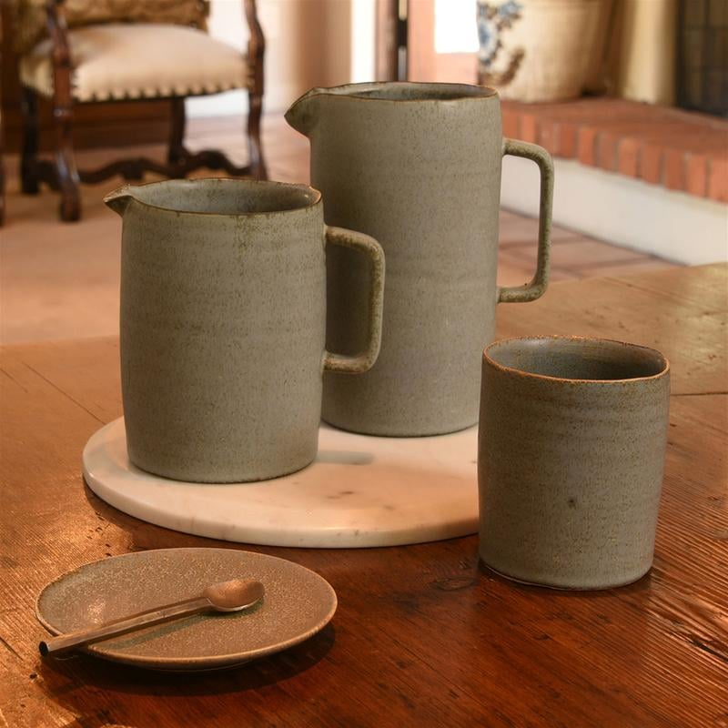 Jungalow Gray Ceramic Pitcher