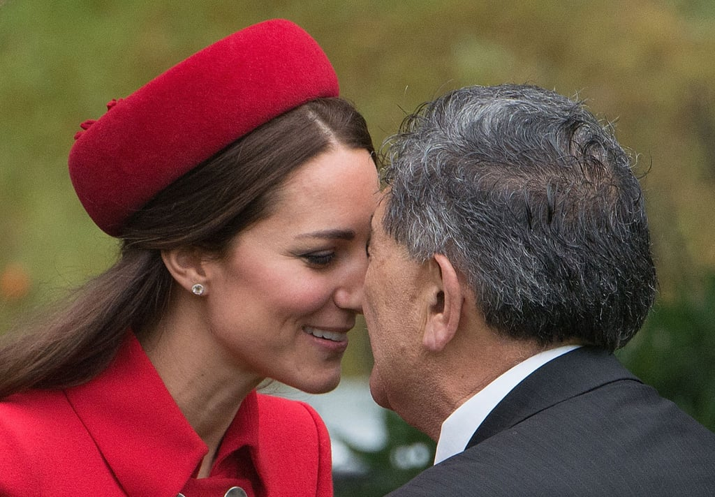 And tackled the tricky Maori kissing tradition.