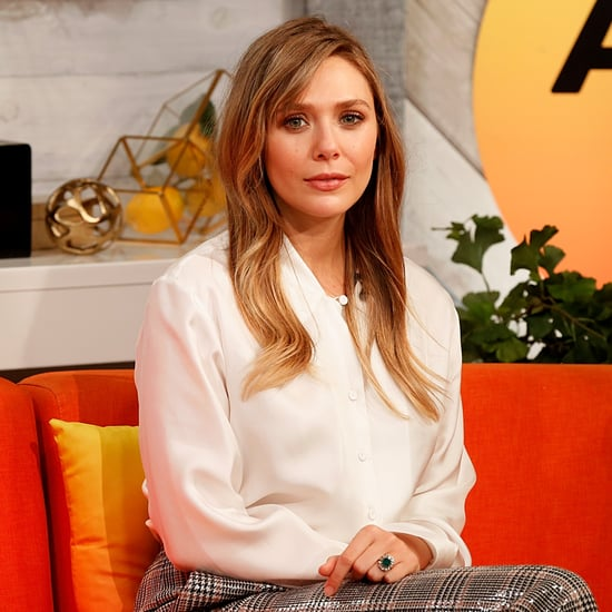 Elizabeth Olsen Debuts Curtain Bangs and Brown Hair Colour