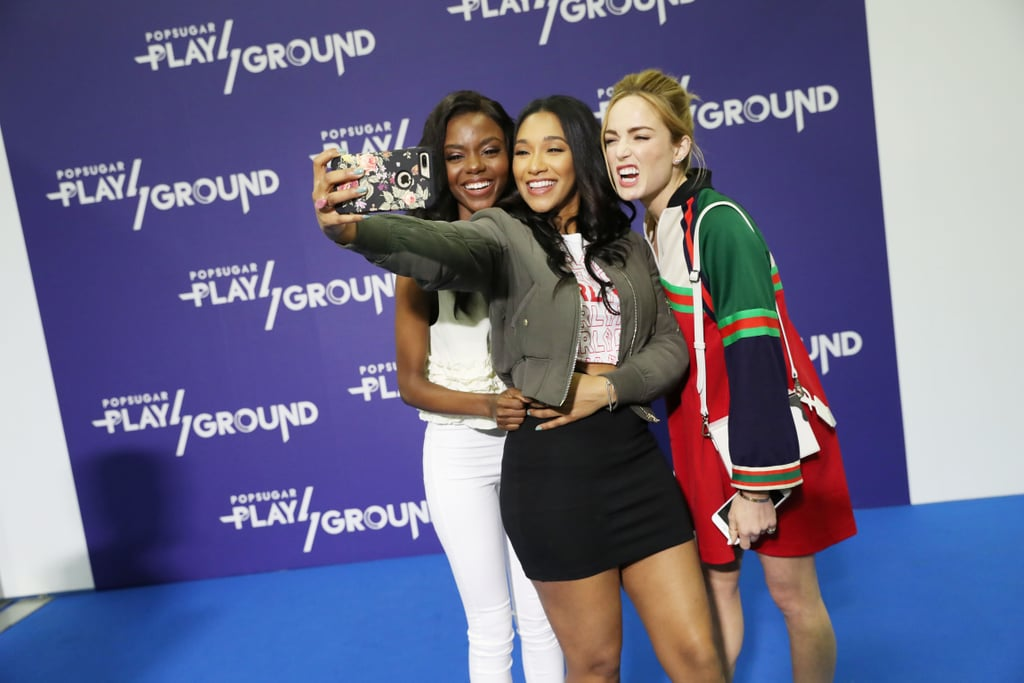 Pictured: Ashleigh Murray, Candice Patton, and Caity Lotz