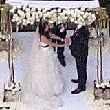 Shannen and Kurt held hands during the nuptials.