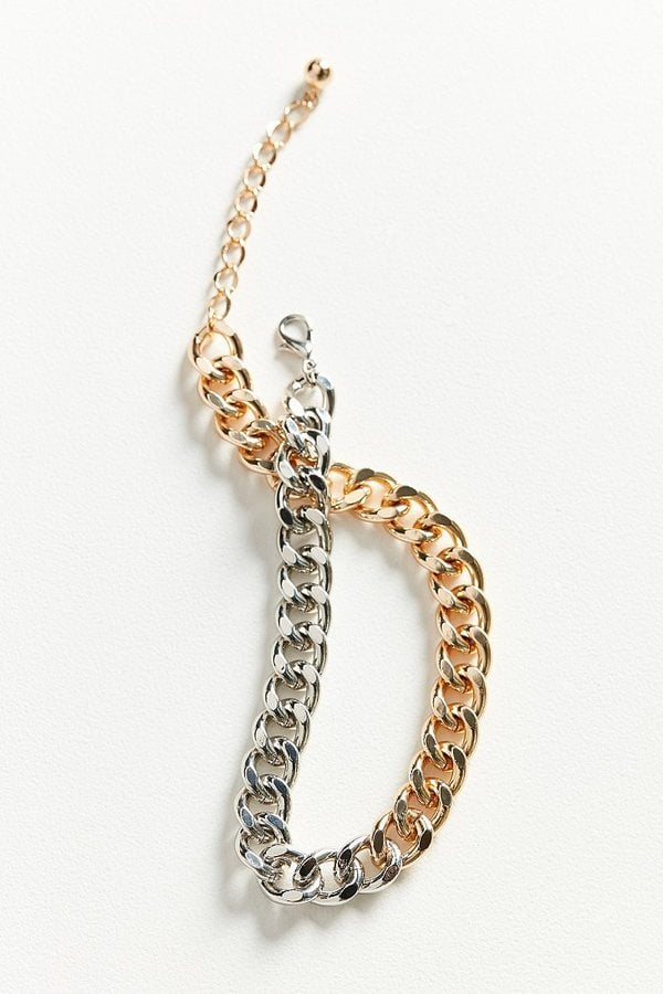 Urban Outfitters Chunky Curb Chain Short Necklace