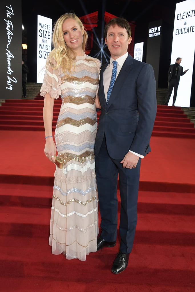 Sofia Wellesley and James Blunt at the British Fashion Awards 2019 in London