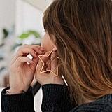 Geometric Hoop Earring