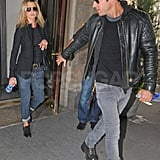 Jennifer Aniston and Justin Theroux Share a Sweet Lunch Date in NYC