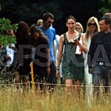 Kate Moss has friends send her off.