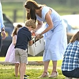 Kate Middleton Blue Dress at Polo Match 2018