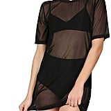 MakeMeChic Short-Sleeve See-Through Sheer Mesh T-Shirt Dress