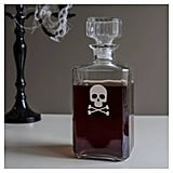 Cathy Halloween Skull and Cross Bones Spirits Decanter
