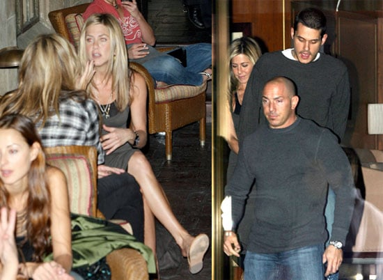 Jennifer Aniston and John Mayer at Sunset Towers With Nicole Richie and Joel Madden