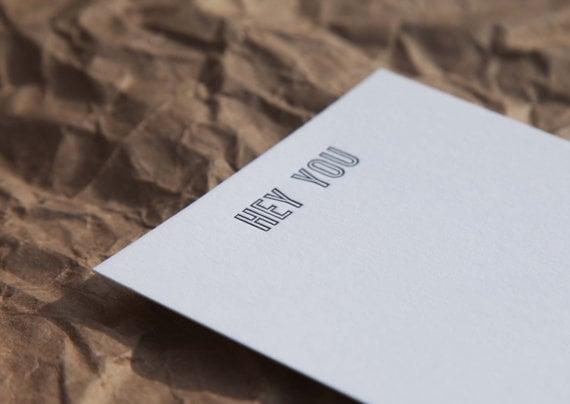 Hey You Notecard Set ($17)