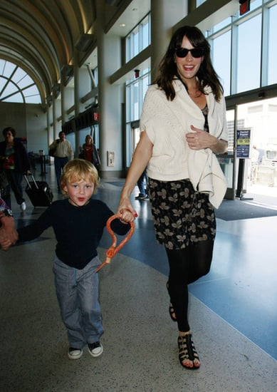 Liv Tyler and her son at LAX airport