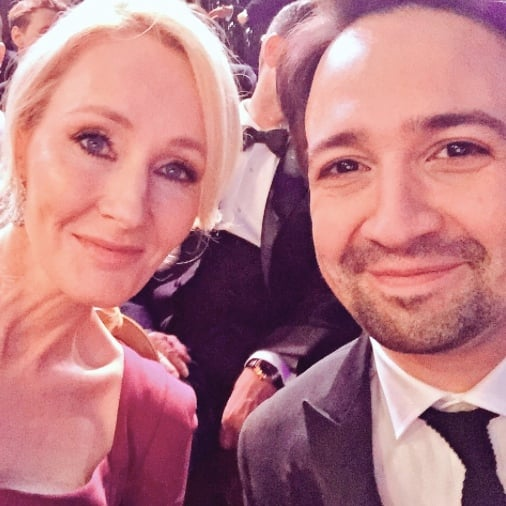 Lin-Manuel Miranda Sat Next to J.K. Rowling at the BAFTAs and Tweeted Something Magical