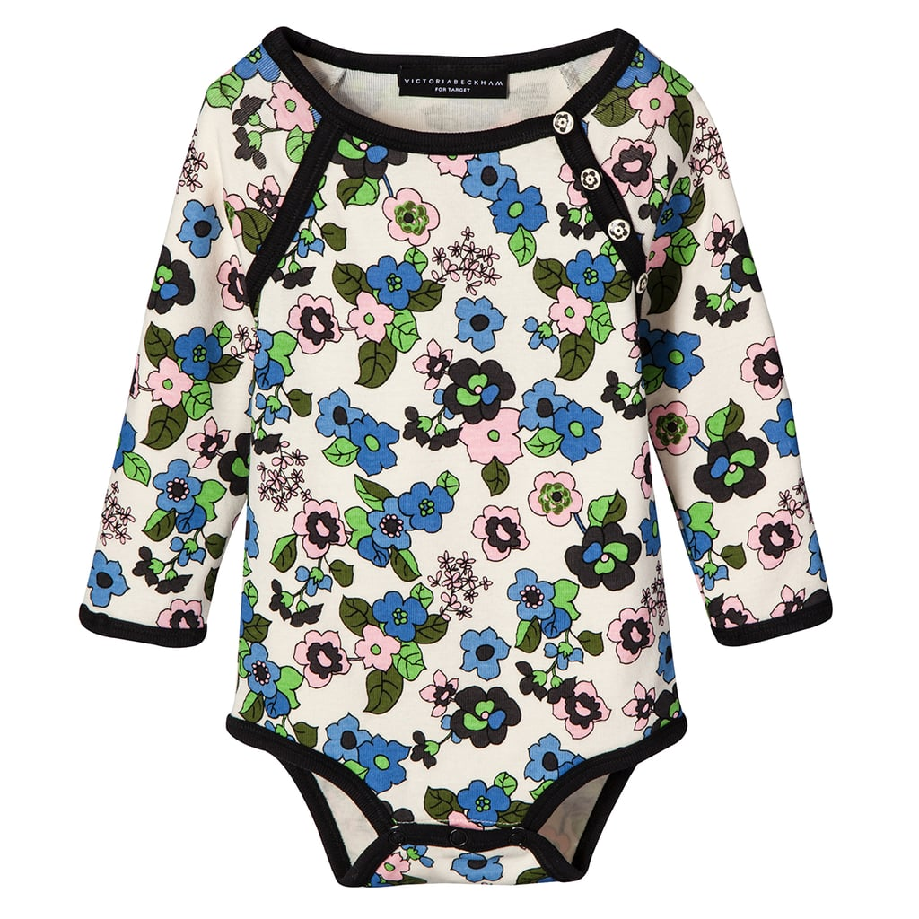 Baby Light Floral Long Sleeve Bodysuit ($13)
