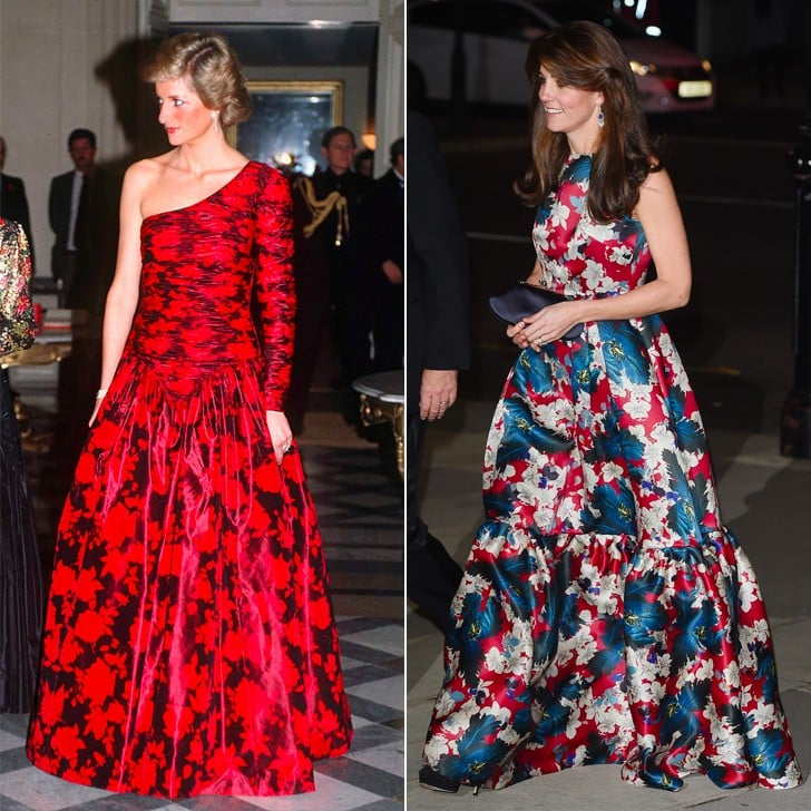 Kate Middleton and Princess Diana's Similar Style