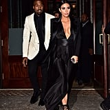 Kim and Kanye Sported a Black and White Palette