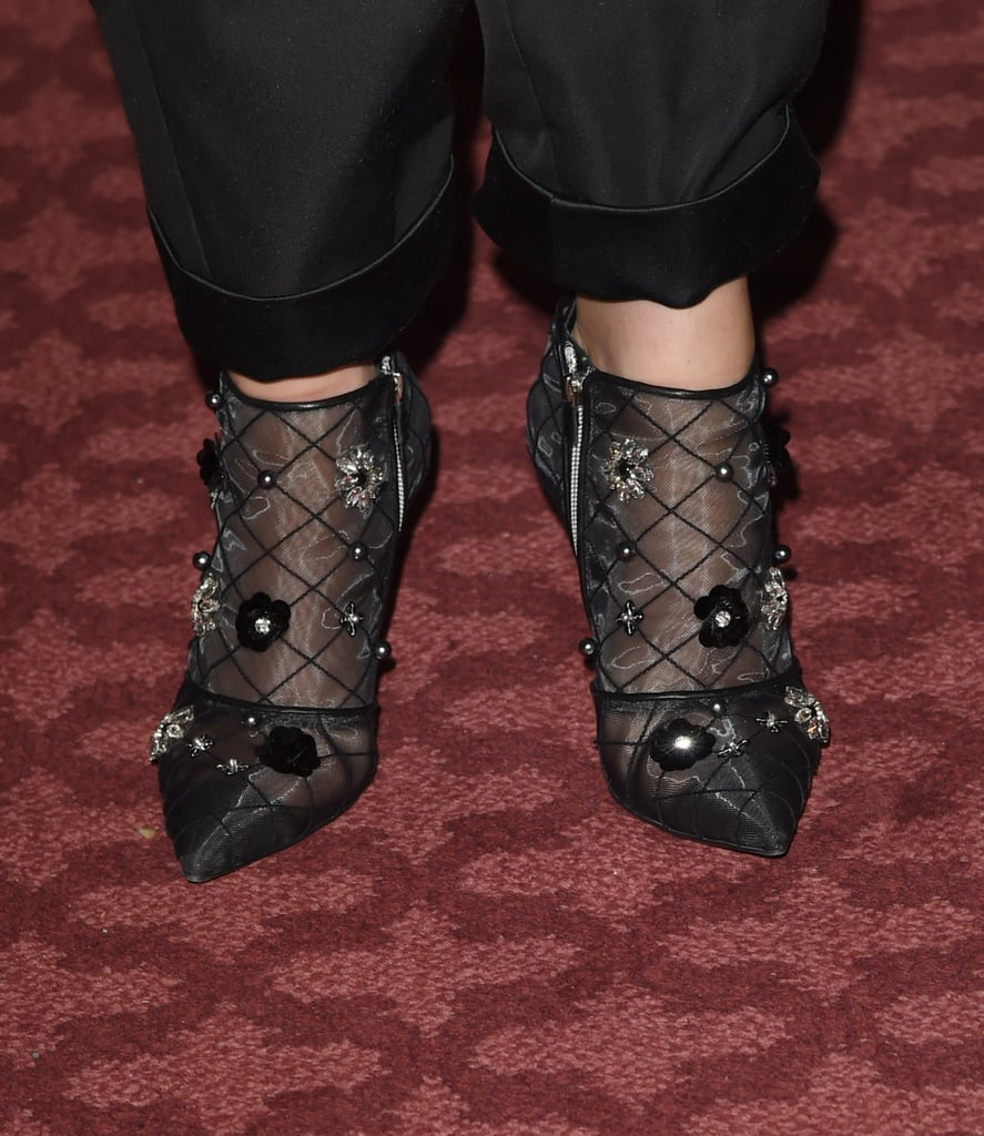 Gwyneth Paltrow Roger Vivier Floral Net Boots