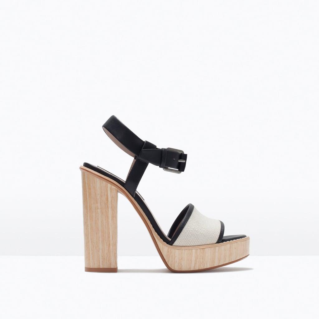 Zara High Heel Platform Sandals ($100)