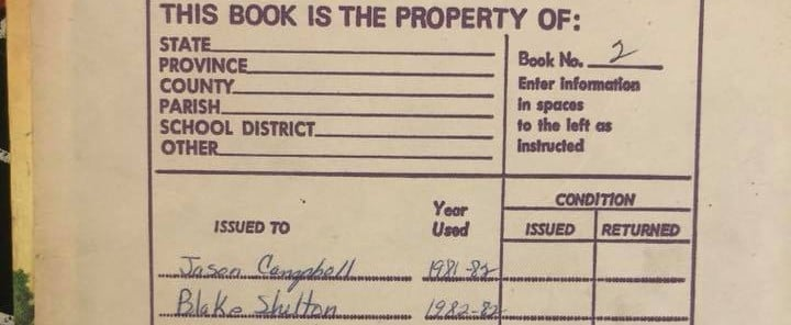 Girl Has Textbook Owned by Blake Shelton
