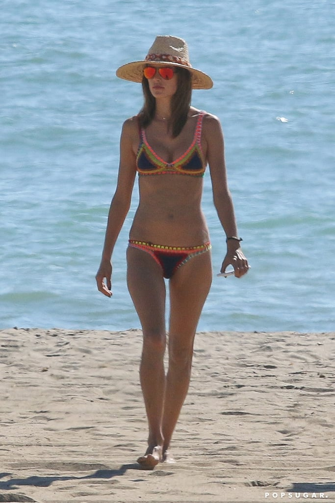 """Alessandra Ambrosio took advantage of the warm weather in Malibu, CA, and enjoyed a beach day with her daughter, Anja, and a few friends on Sunday afternoon. The Victoria's Secret model slipped into a colorful Kiini two-piece, showed off her volleyball skills, and snapped some selfies by the ocean. She later uploaded a couple of photos to Instagram, captioning one, """"Days by the beach are days well spent ✌️️😎#calilife #foreveronvacation."""" Alessandra, of course, is no stranger to the beach. Earlier this year, the model escaped to her native Brazil, where she relaxed and frolicked in the sand, and in July, she put her bikini body on display while vacationing in Ibiza. It's just one of the best swimsuit moments we've seen this year.      Related:                                                                                                           14 Model Moms You Should Follow on Instagram"""