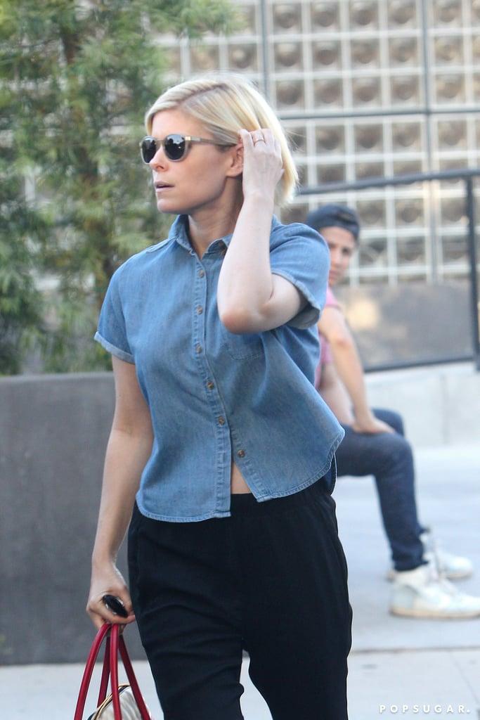 Kate Mara With Platinum Blonde Hair   August 2016
