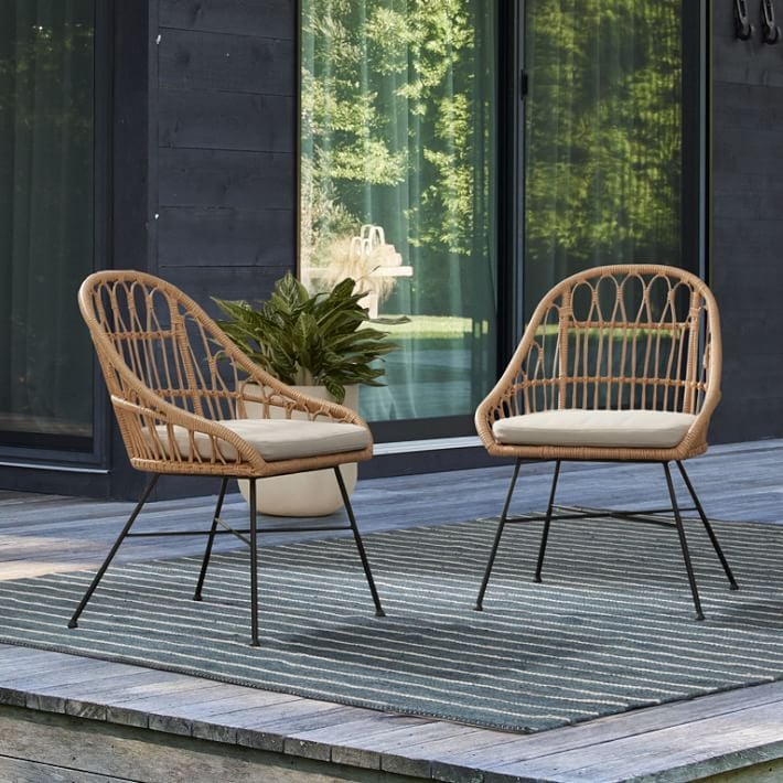 Palma Outdoor Rattan Dining Chairs (Set of 2)